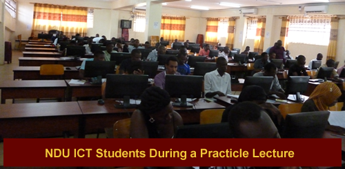 Ndejje ICT Students During a Practicle Lecture