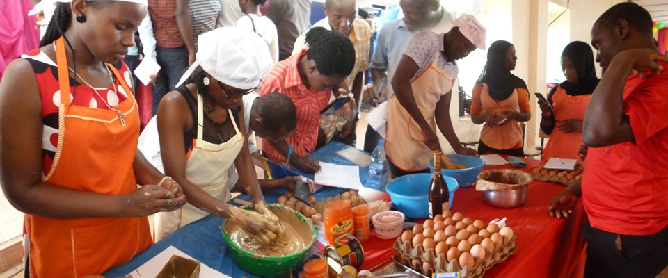 Skilling UgandaNDU students get practical skills in cake, soap, jewellery making