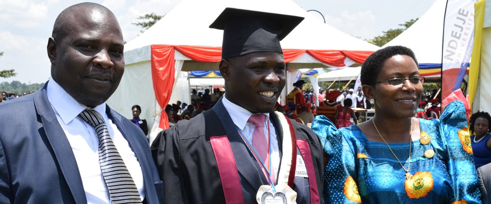 Hon. Zaake FrancisGraduates with BPLM of Ndejje at the 18th Graduation