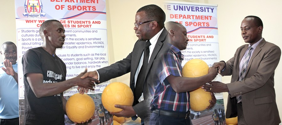 Ball Give-awayNdejje University through NUCSEP gives away balls