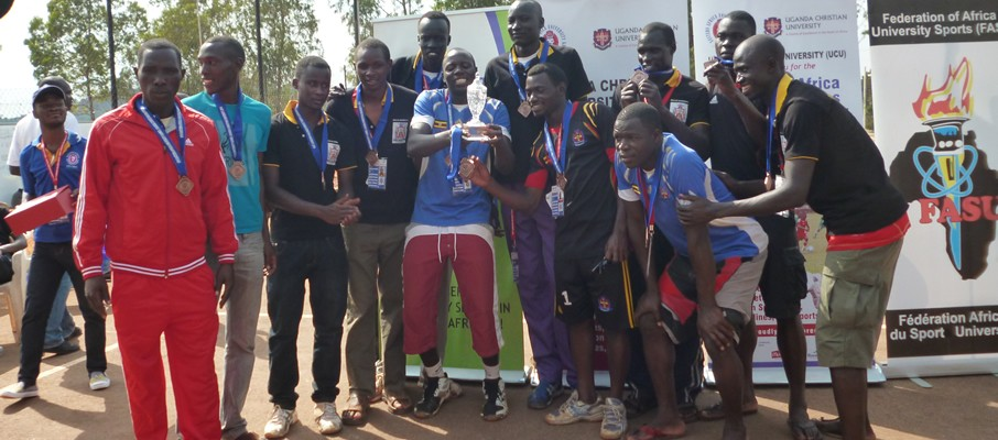 E. A Games 2014Ndejje emerged overall winners of the 9th Edition of the Eastern Africa University Games.