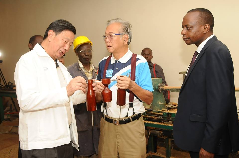 IWbF President at Ndejje University - woodball equipment factory